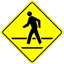 single crosswalk sign