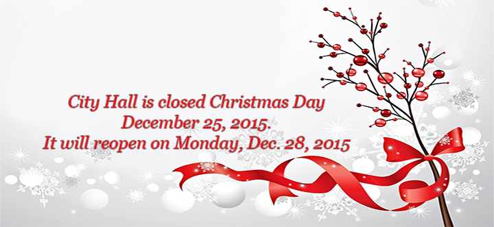 Christmas Hero Banner - City Offices Closed