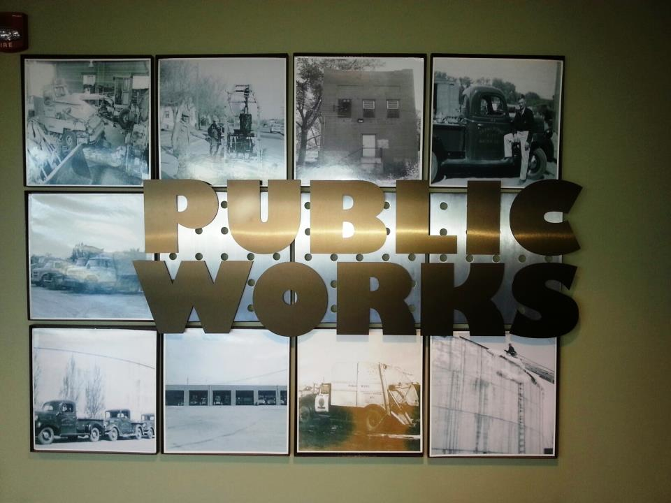 Public Works Wall sign