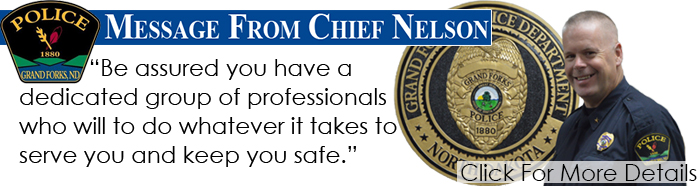 Message from Chief Nelson Banner