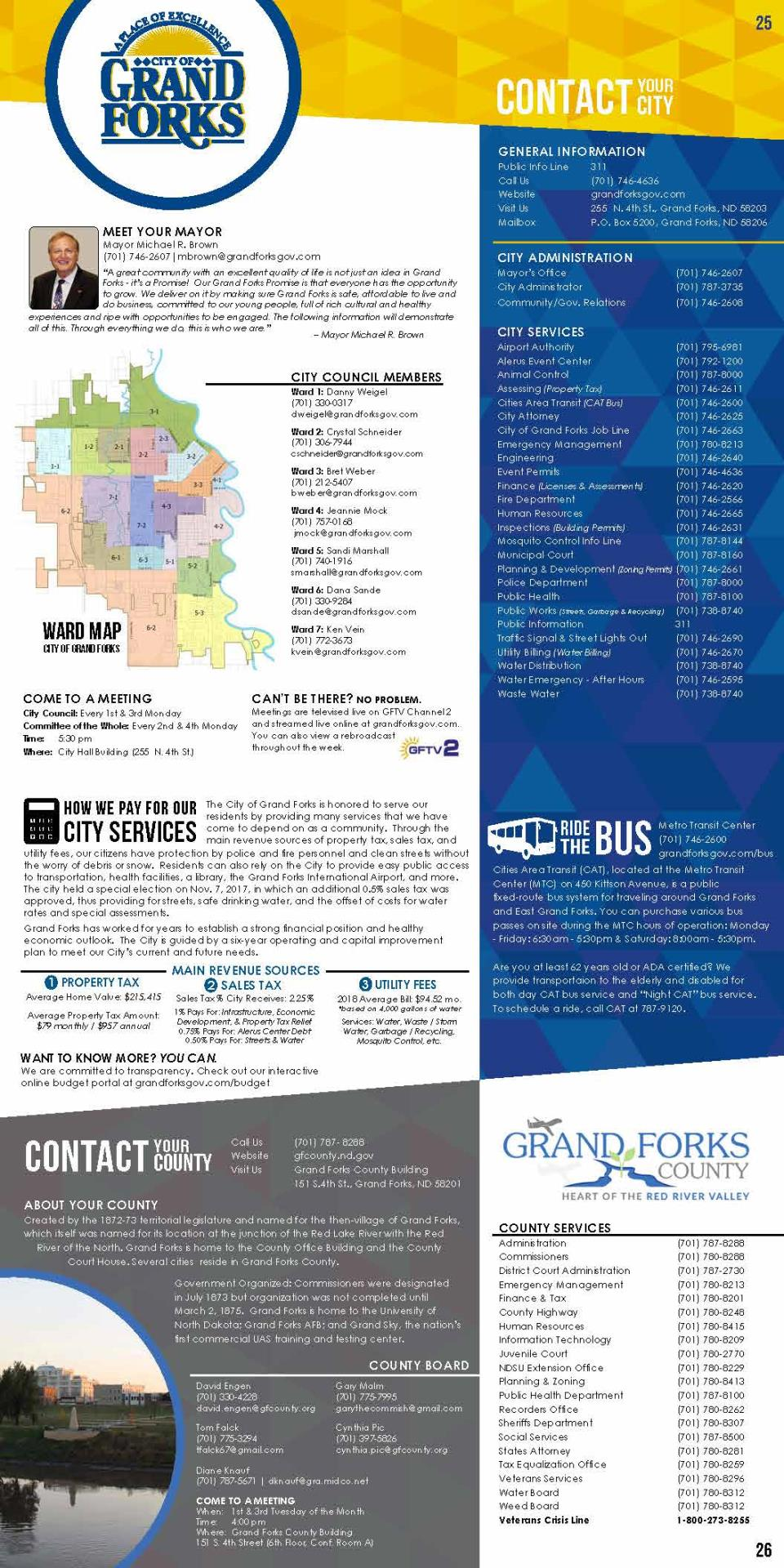 2018 Grand Forks Calendar - City and County Information