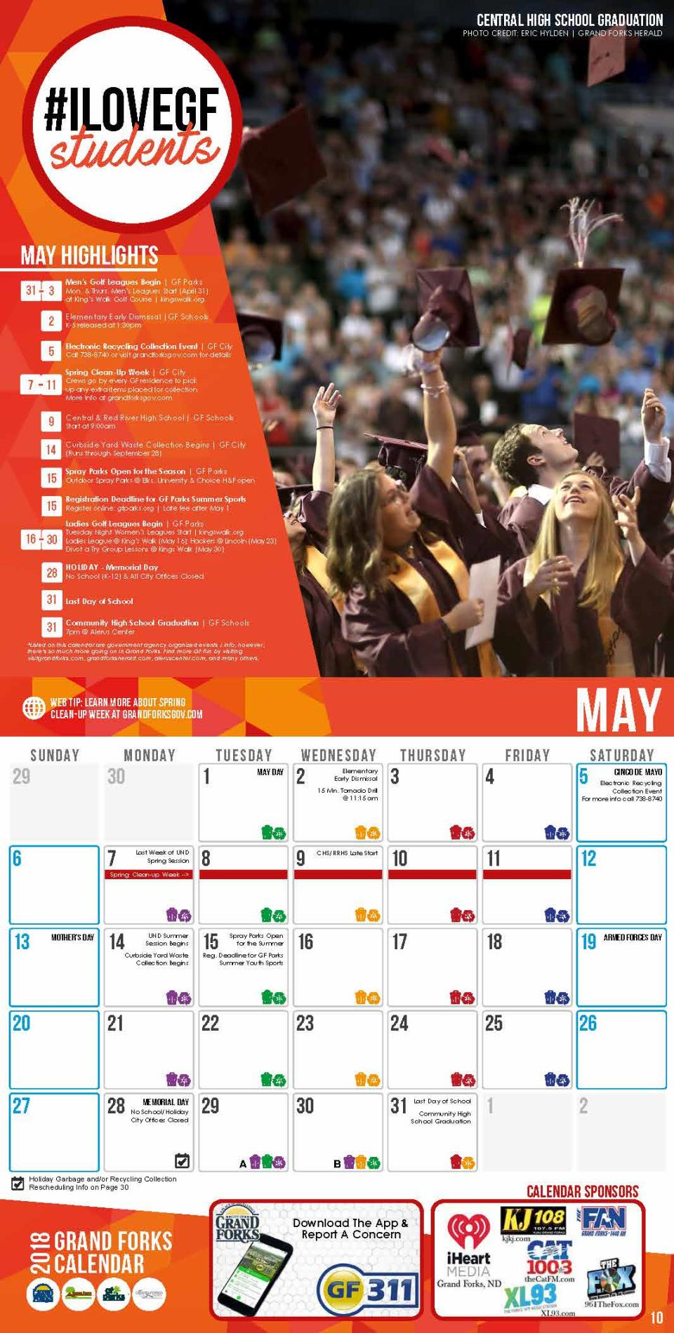 2018 Grand Forks Calendar - May