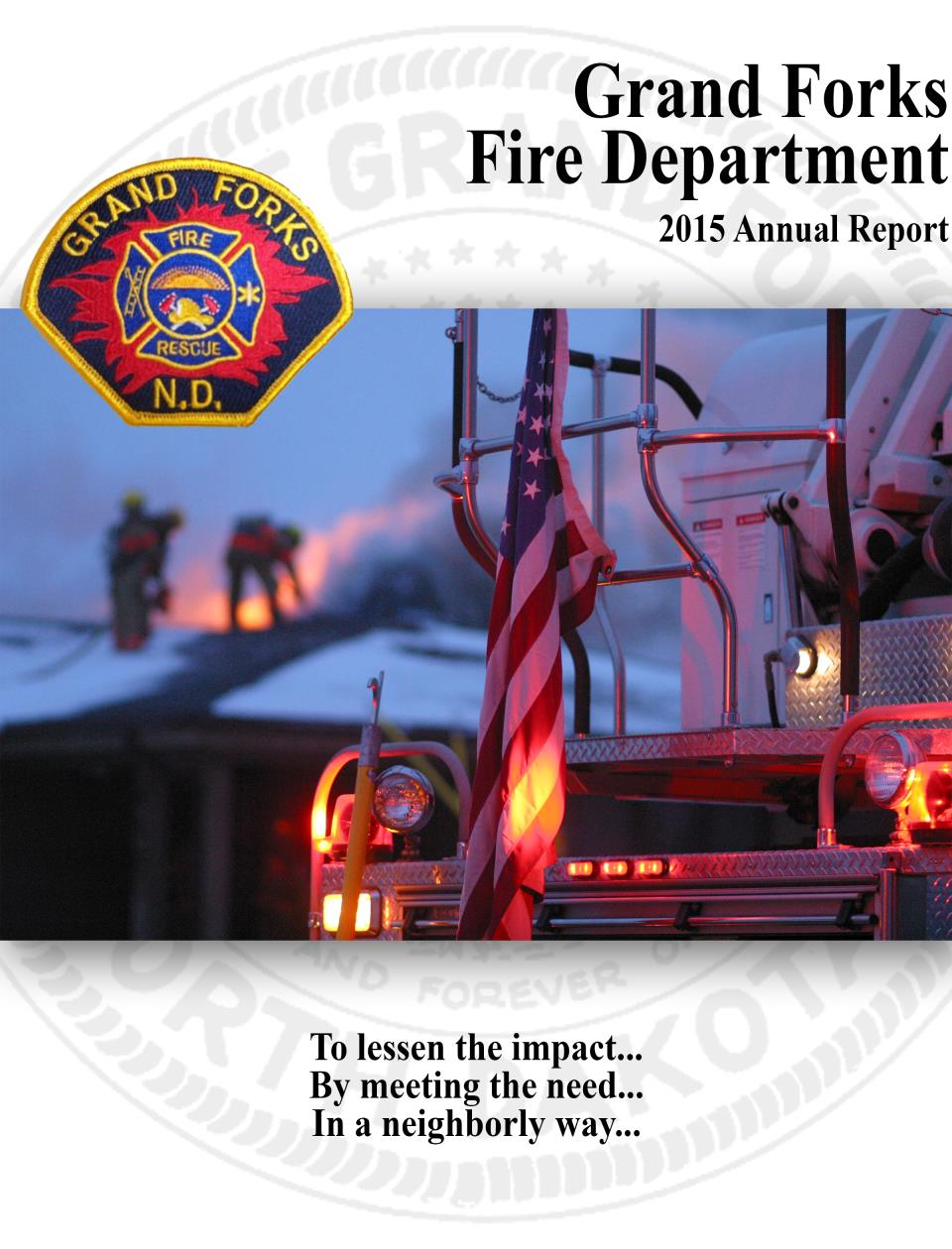 Fire - Annual Report Cover 2015