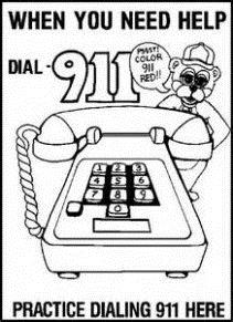 Practice dialing 911